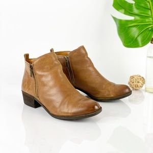 Lucky Brand Basel Ankle Boot Block Heel Almond Toe